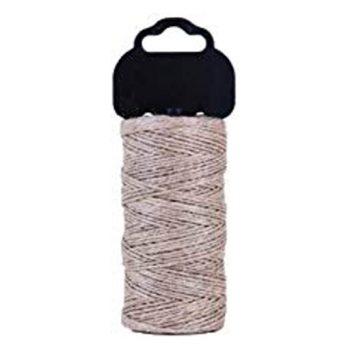 hilo cañamo gris para tejer natural