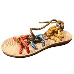 zapatillas cañamo decoradas verano sandalias