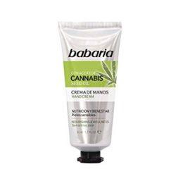 Crema de cannabis Babaria con beneficios manos