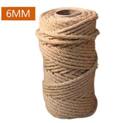 Cuerda gruesa de cañamo o esparto 100m cuerda cañamo 6 mm